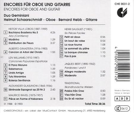 Skandinavische Len various artists sauguet six easy pieces for oboe and guitar ibert