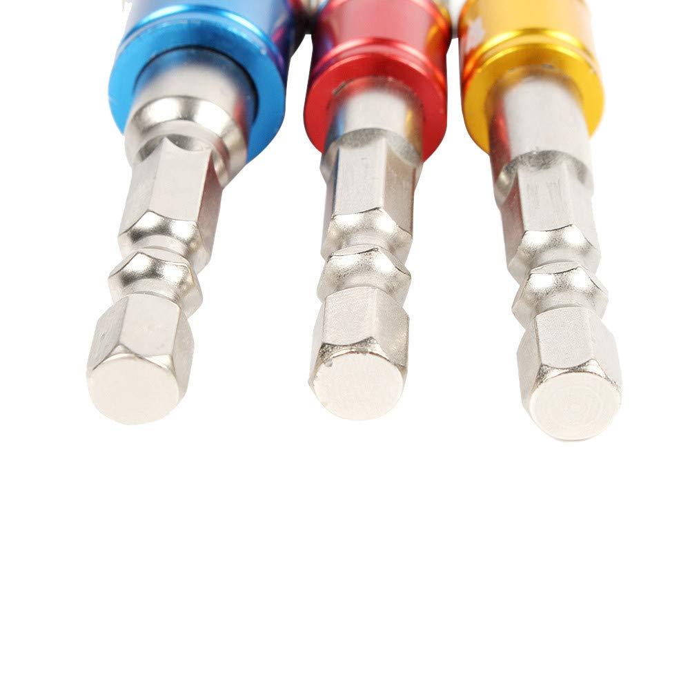 3pcs 1//4 3//8 1//2 Cr-V Hex Shank Impact Grade Socket Adapter,Power Hand Tools,Drill Bits Set,Impact Driver Bit Set,Hex Magnetic Bit Socket Screwdriver Holder Adaptor,Socket Wrench Set Ratchet Ext