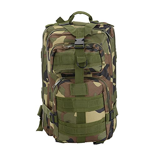 AW 30L 600D Tactical Army Rucksacks Molle Backpack Waterproof Camping Outdoor Hiking Trekking Bag Forest -