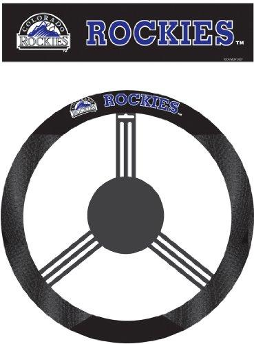 Fremont Die MLB Colorado Rockies Poly-Suede Steering Wheel ()