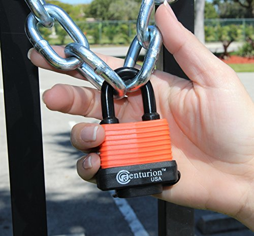 Centurion WPP Laminated Waterproof Padlock, Wide Body - Weather Resistant Outdoor Padlock, 3 Keys Included (40mm Body) by Centurion USA (Image #4)