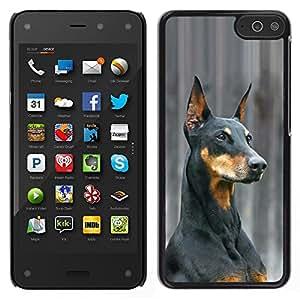 Stuss Case / Funda Carcasa protectora - German Pinscher Doberman Dog Black - Amazon Fire Phone