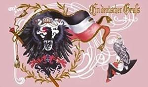 U24Bandera Reich Alemán un en alemán de felicitación 90x 150cm