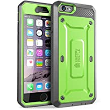 iPhone 6S Case, SUPCASE Apple IPhone 6 Case / 6S 4.7 Inch [Unicorn Beetle Pro] Rugged Holster Cover with Builtin Screen Protector (Green/Gray)