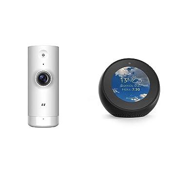 Echo Spot negro + D-Link DCS-8000LH – Cámara IP WiFi de vigilancia