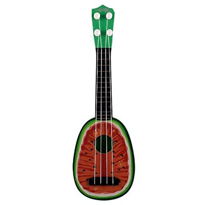 MUDEREK Durable Multifunctional Cute Baby Ukulele Musical Toy Early Education Toy Jackets Watermelon Red: Clothing