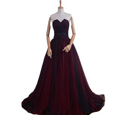 Corset Red Prom Dresses Long