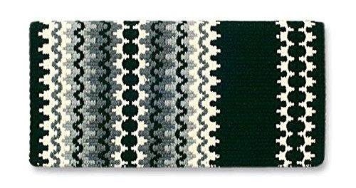 Mayatex Corona Saddle Blanket, Black/Cream/Ash/Charcoal, 38 x 34-Inch Mayatex Western Show Saddle