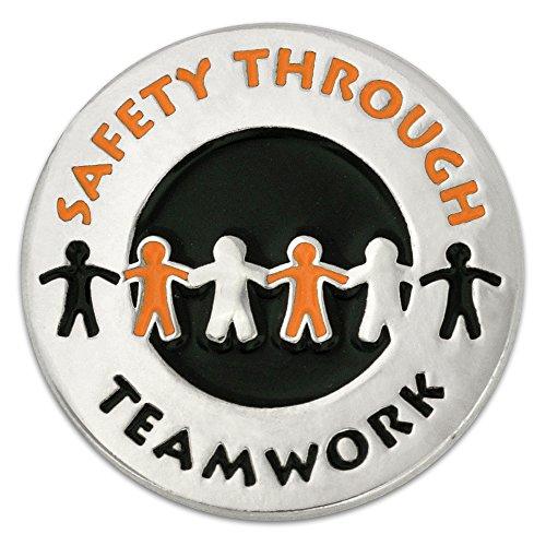 (PinMart Safety Through Teamwork Enamel Lapel Pin)