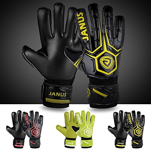 Adult & Youth Soccer Goalkeeper Gloves with Pro Fingersave, 3.6mm Natural Latex Palm,Double Rip-Tab Strap, Match Training for Women and Men,Size 7-10, 3 Colors – DiZiSports Store