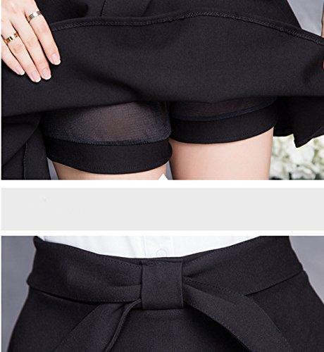 Faldas Del Vestido Plisado Una Línea De Primavera Y Verano Black
