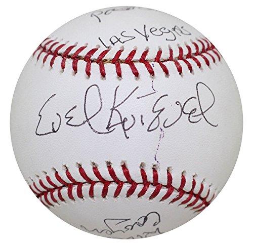 Evel Knievel Signed Heavily Inscribed Baseball Caesars Palace, Las Vegas JSA - Vegas Palace Las Caesars Shops