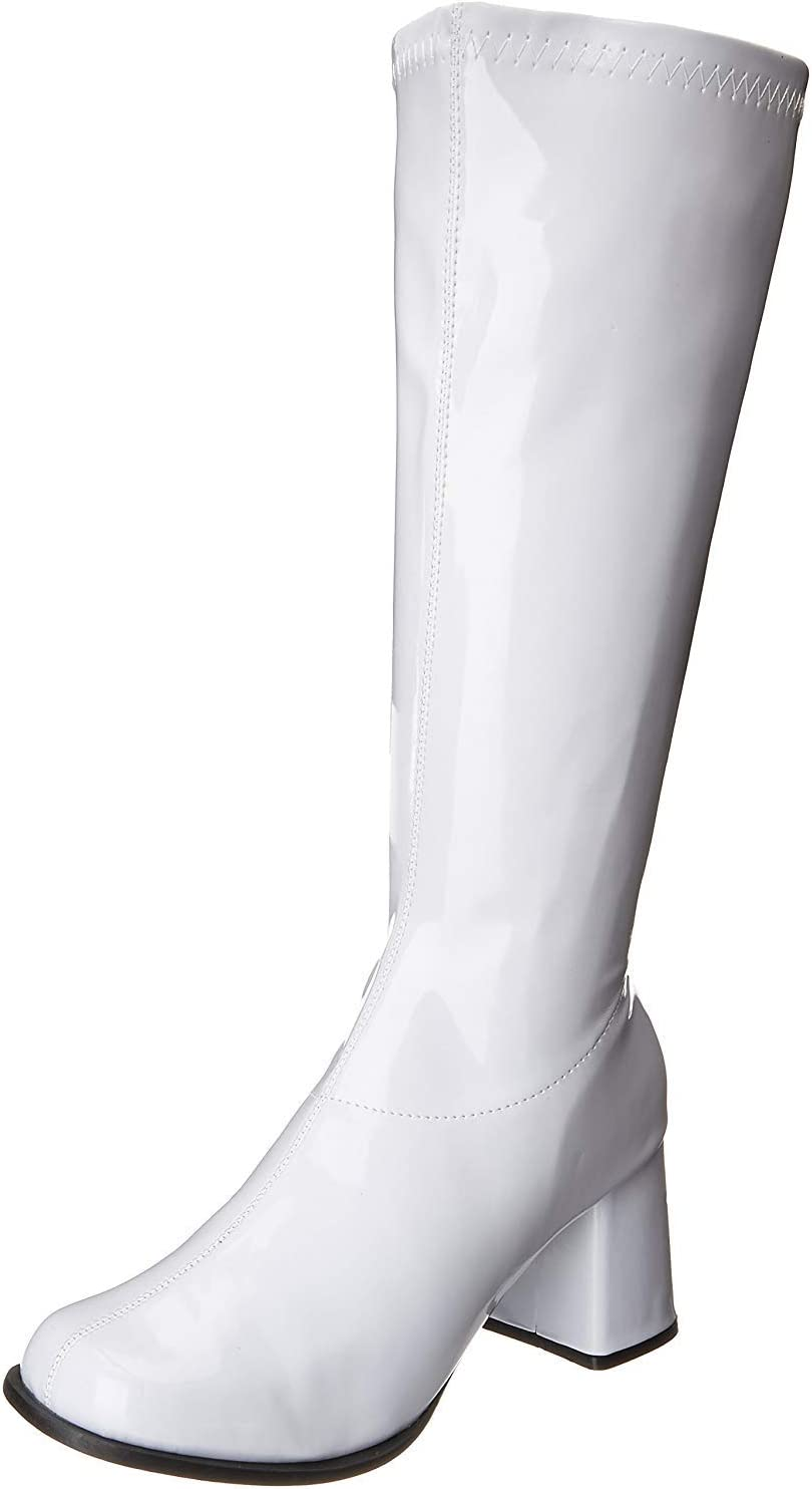Ellie Shoes Go Go Boot White Size