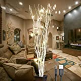 home decor ideas LIGHTSHARE 36Inch 16LED Natural Willow Twig Lighted Branch for Home Decoration, USB Plug-in and Battery Powered