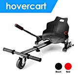E T Hoverboard Kart Seat Attachment Holder Accessory for 6.5'' 8'' 10'' Two Wheel Self Balancing Scooter Cart, Adjustable Hoverkart Hoverboard Accessories (Self Balance Board Not Included) (Black)