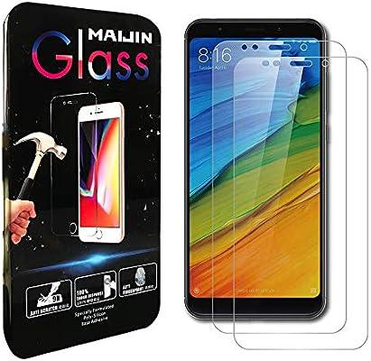Compatible con Redmi Note 5 Protectores de Pantalla, (2 Unidades) Cristal Templado Transparente Completo para Xiaomi Redmi Note5: Amazon.es: Electrónica