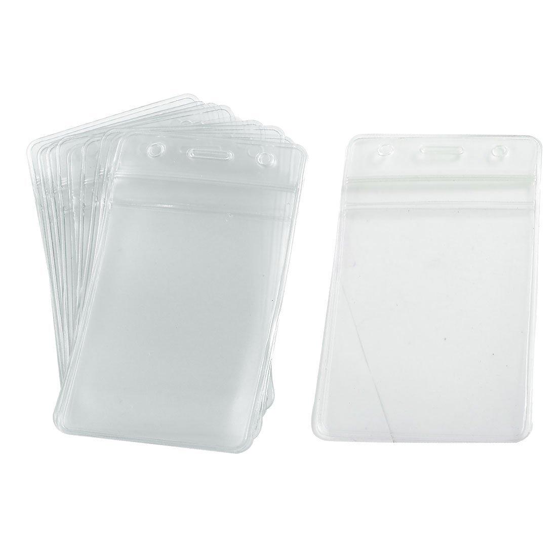 TOPWEL Ziplock Function 10pcs Waterproof Type Pvc Id Card Holder, Clear, Grünical Style Badge Id Card Holders by TOPWEL B0145G5EV4    | Charmantes Design