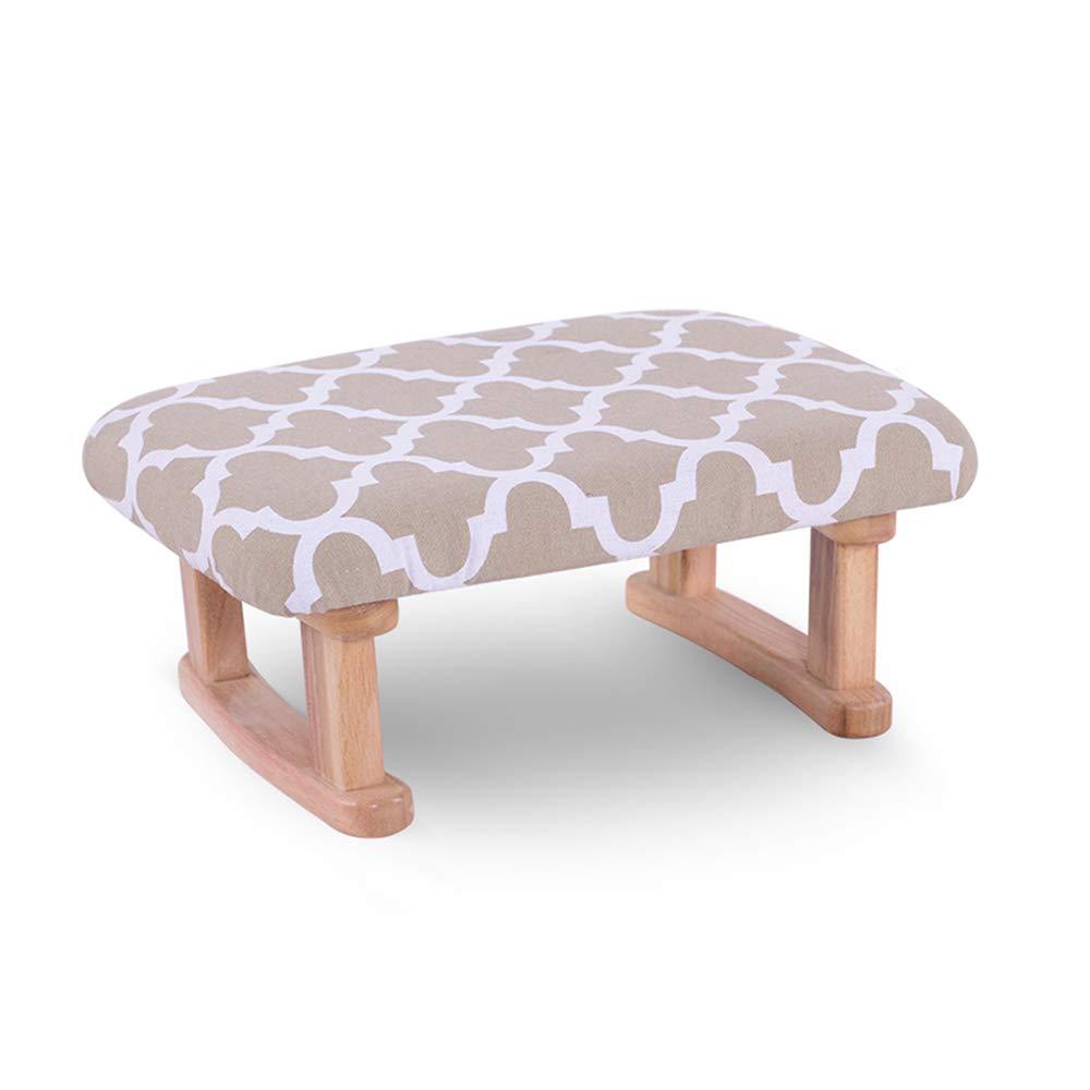 ZXQZ Sgabello in Legno divanetto per divanetto con Cuscino in Cotone ...