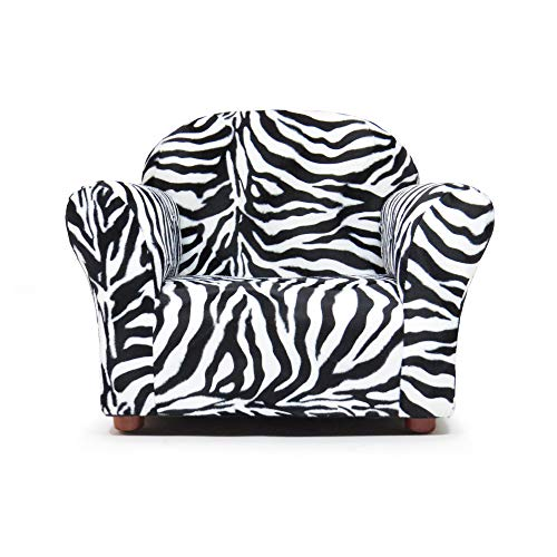 - Keet Roundy Faux Fur Children's Chair, Zebra