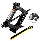 everbest4u Scissor Jack 1.5T Car Scissor Jack with Hand Crank Portable RV Stabilizers for Sedan and Coupe