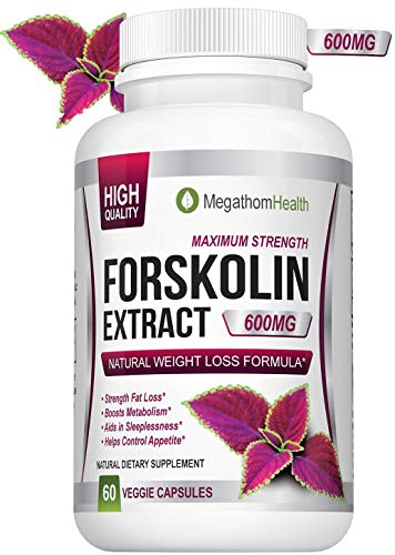 Forskolin for Weight Loss Diet pills - 600mg Extract 40% Pure Standardized | Strenght Fat Loss, Boosts Metabolism, Aids in Sleeplessness, Helps controle Appetite | Natural ()