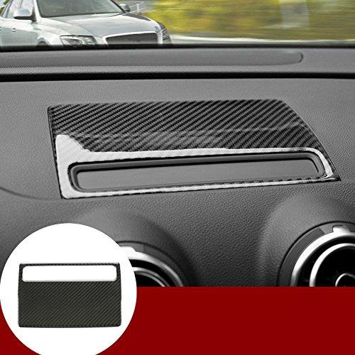HOTRIMWORLD Carbon Fiber Center Dashboard GPS Navigation Trim Cover for Audi A3 S3 2014-2018