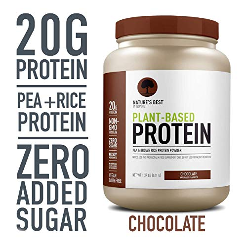 Nature's Best Plant Based Vegan Protein Powder by Isopure - Organic Keto Friendly, Low Carb, Gluten Free, 20g Protein, 0g Sugar, Chocolate, 20 Servings, 21.92 Oz