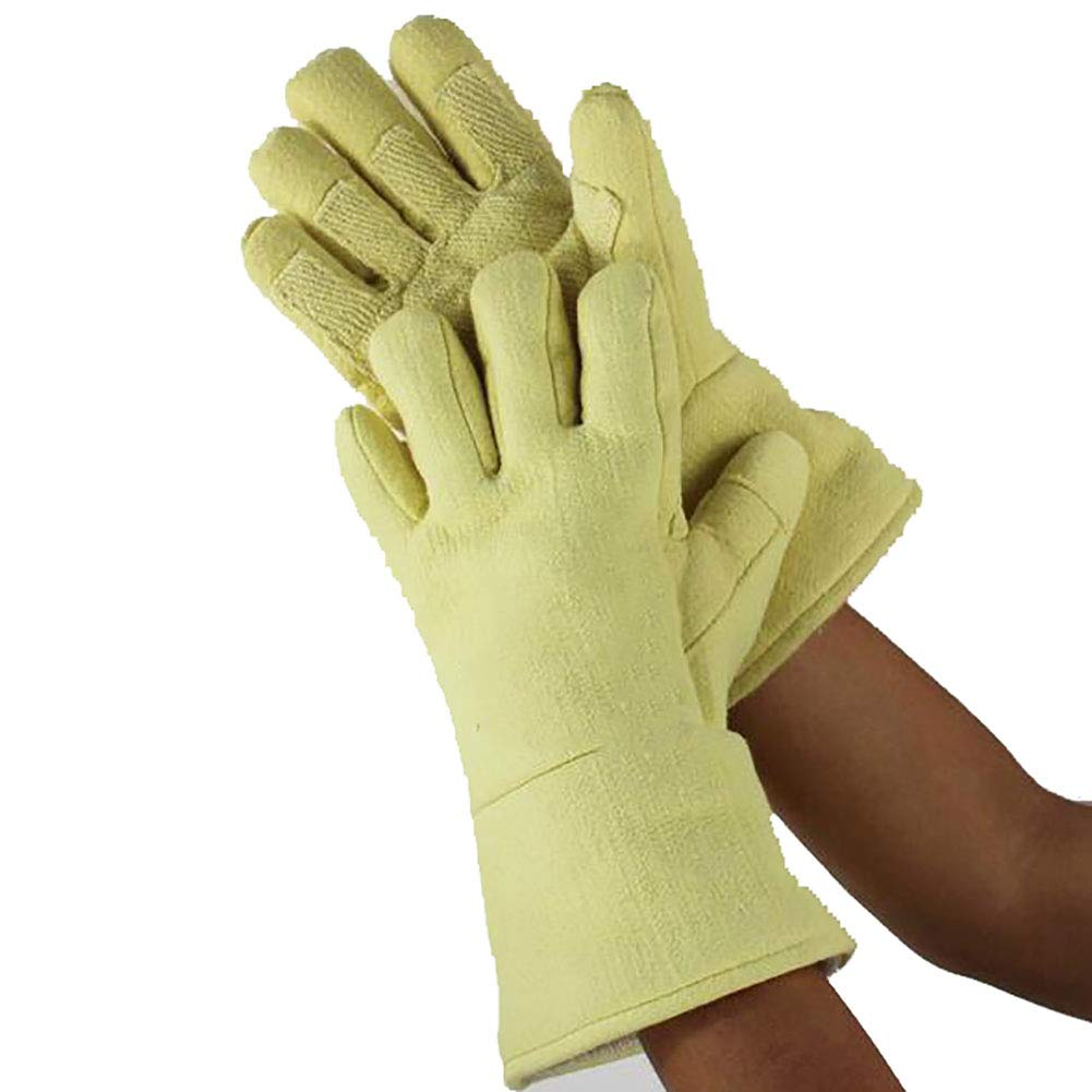 DAN Welding Gloves Heat Resistant Cow Split Leather/Camping/Cooking Welder Fireplace