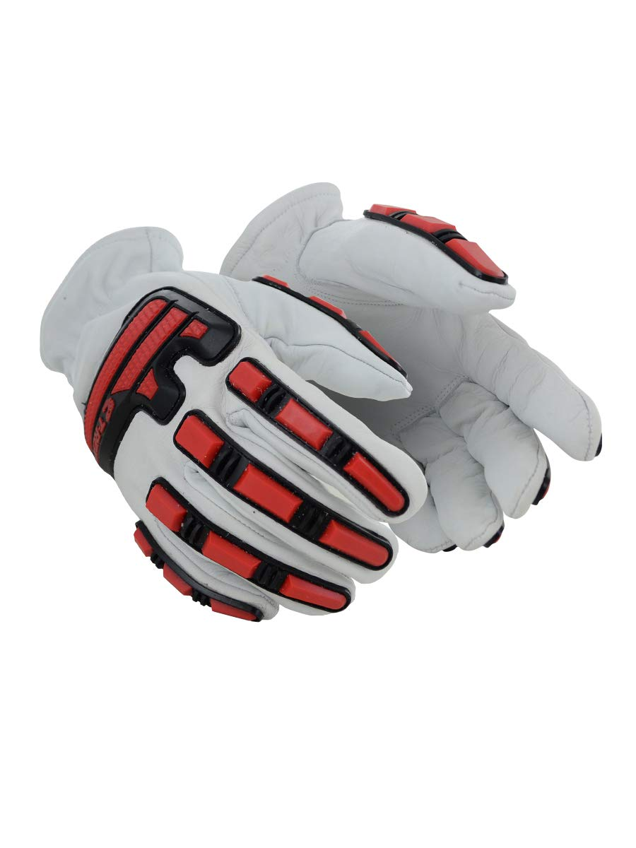 Magid T-REX Rebel Series Cow Grain DX Technology-Lined Driver Style Impact Glove - Cut Level A4 (1 Pair)