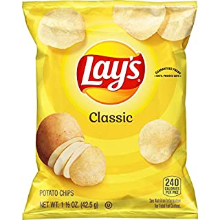 Lay's Classic Potato Chips, 1.5 Ounce (Pack of 64)
