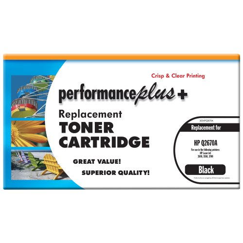 - Performance Plus Remanufactured Q2670A Black Laser Toner Cartridge, Qualtity, Clear, Crisp Printing