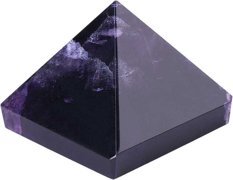 Figuras de amatista en forma de pirámide de cristal natural tallado con piedras preciosas para decoración del hogar, oficina, muebles, regalo, creativo, color morado oscuro