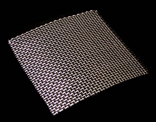 Woven Wire Mesh, 10 mesh (Stainless Steel 304L) – 2mm Aperture – By Inoxia Cut Size: 30cmx30cm by Inoxia