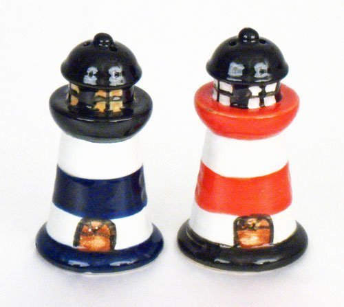 Beachcombers SS-BCS-03195 Lighthouse Salt & Pepper Seasonal Celebration Lighting