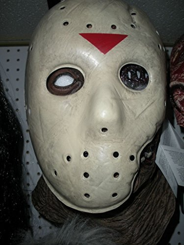 Deluxe Jason Voorhees Latex Mask Friday the 13th Part 7 Latex Mask Adult Size