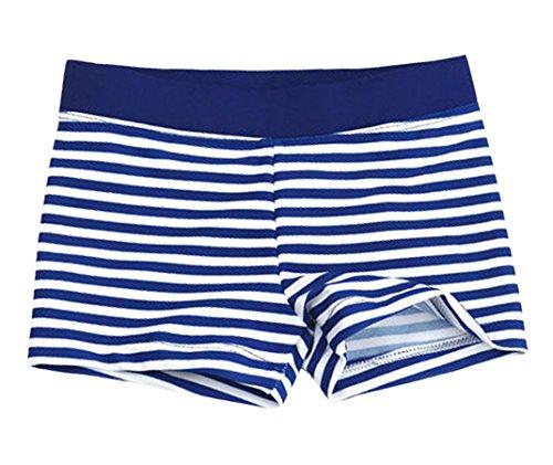 Aivtalk Kids Boys Swimming Trunks Swim Boxer Shorts Underpants, Stripe White, Large 3-4years (Swim Trunks Children)