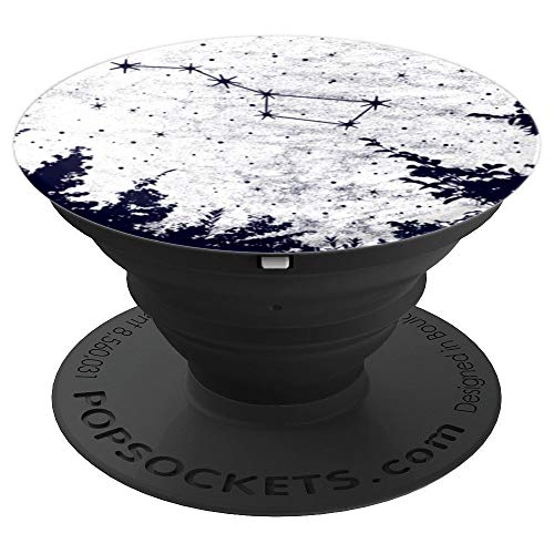 Galaxy Big Dipper Stars Constellation Full Moon Space Design - PopSockets Grip and Stand for Phones and Tablets -