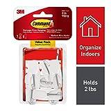 Command White Hooks, 7 hooks, 8 strips, Indoor