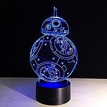 Hotcorner® Night Light Lamp Acrylic Colorful Star Wars BB-8 Gift Originality Home Decoration