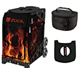 Zuca Sport Bag - Blaze with Gift Lunchbox and Seat Cover (Black Frame)