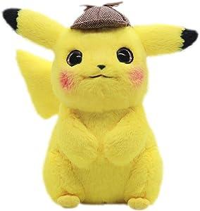 "Latim Detective Pikachu Plush Toy Cuddly Detective Pikachu Toy Soft 11"""