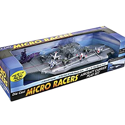 Deluxe Toy Aircraft Carrier Playset - 8 Assorted Jets