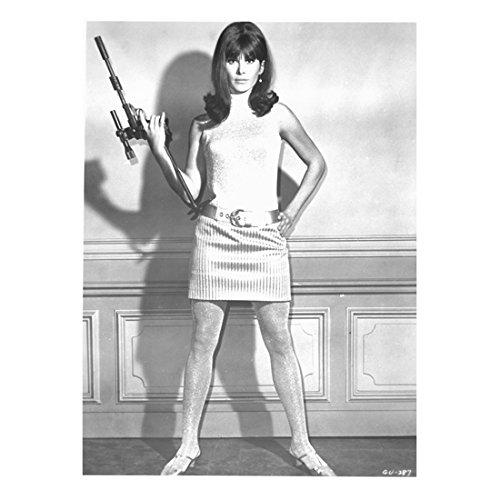 Girl From U N C L E  Stephanie Powers Holding Gun By Wall 8 X 10 Inch Photo