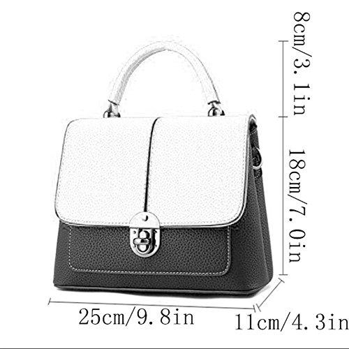 Femmes En Qiaoy Bandoulière Brown Mode À Cuir Fourre Shopping Épaule Sac Sacs Embrayages Main tout n88Ux