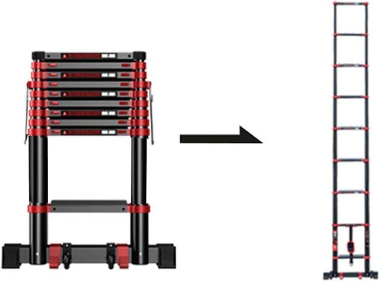 Escaleras de tijera Escalera Telescópica Multifuncional Con Polea Escalera Recta Aleación De Aluminio Gruesa Escalera Plegable Elevador De Viviendas Edificio De Ingeniería Escalera (Size : 2.3m): Amazon.es: Bricolaje y herramientas