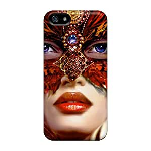 New XMc15615PcIJ Mysterious Woman With Mask Covers Cases For Ipod Touch 5
