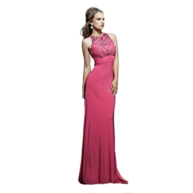 Sherri Hill Sleeveless Jersey Gown Nude - 0
