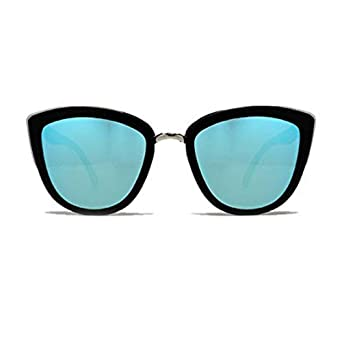 6085ccf3c4966 Amazon.com  Quay MYGIRLBLK My Girl Shades Black Frame Blue Lens Cat ...