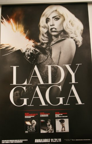 Lady Gaga Fire Cone Bra Picture the Fame Monster Ball Tour/Born This Way 14x22 Poster