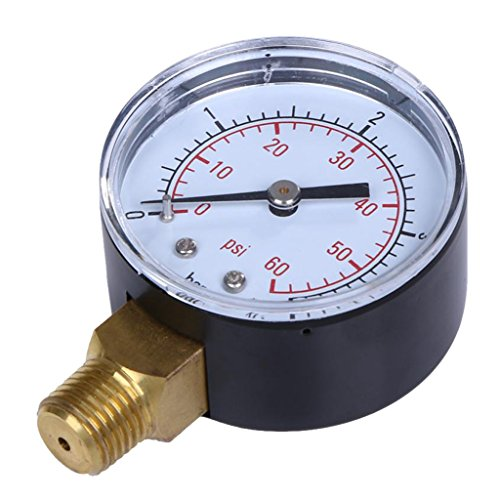 MagiDeal Pool Spa Filter Water Pressure Gauge 0-60 PSI Side Mount 1 4